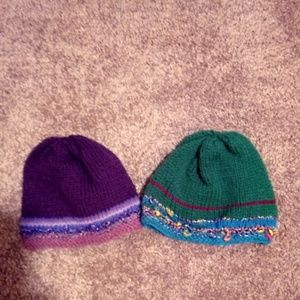 Other - 2 Handmade NEW Knit Hats TOTAL $13